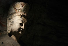 Stone Carving of Yungang 11. Stone carving in Yungang Grottoes, Datong, Shanxi province of China Stock Photography