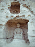 Stone carving of Yungang grottoes Stock Photos