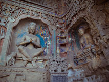 Stone carving of Yungang grottoes Stock Image