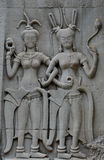 Stone carvings in angkor Royalty Free Stock Images