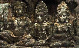 Stone carvings in angkor Stock Image
