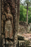 Stone carvings in Cambodia Royalty Free Stock Photography
