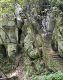 Stone carvings at Feilai Feng, Hangzhou Royalty Free Stock Images