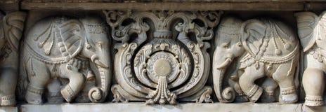 Stone carvings in Hindu temple Birla Mandir in Kolkata Stock Photography