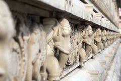 Stone carvings in Hindu temple Birla Mandir in Kolkata Stock Photos