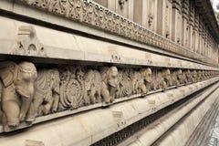 Stone carvings in Hindu temple Birla Mandir in Kolkata Royalty Free Stock Photography
