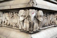 Stone carvings in Hindu temple Birla Mandir in Kolkata Stock Images