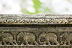 Stone carvings in Hindu temple,Thanjavur, Tamil Nadu, India Stock Images