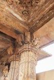Stone Carvings Inside Kandariya Temple - Khajuraho, Madhya Pradesh, India Royalty Free Stock Photos