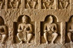 Stone Carvings at Kanheri Caves royalty free stock photos