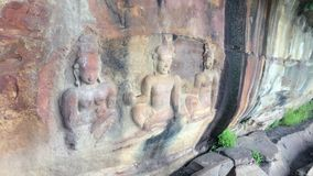 Unseen Thailand. Stone carvings at Pha Moo E-Daeng, Si Sa Ket,Thailand royalty free stock images