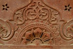 Stone carvings on the temple wall, India Royalty Free Stock Photos