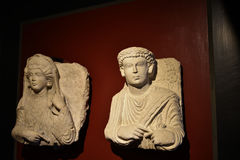 Stone Carvings in the Vatican Museums in the Vatican City in Rome Italy Royalty Free Stock Photography