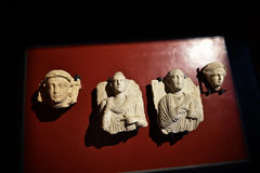 Stone Carvings in the Vatican Museums in the Vatican City in Rome Italy Stock Photo