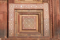 Stone carvings on the wall in Fatehpur Sikri Stock Image