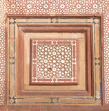 Stone carvings on the wall in Fatehpur Sikri Royalty Free Stock Photo