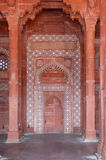 Stone carvings on the wall in Fatehpur Sikri Stock Images