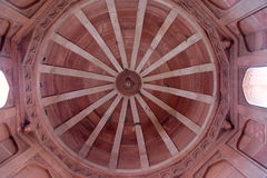 Stone carvings on the wall in Fatehpur Sikri. Beautiful stone carvings on the wall in Fatehpur Sikri complex, Uttar Pradesh, India Stock Image