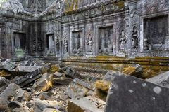 Stone carvings on the wall of the temple. Stock Photography