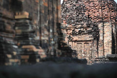 Stone castle in isan of thailand is the architecture culture old Royalty Free Stock Photography