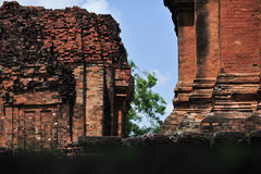 Stone castle in isan of thailand is the architecture culture old Stock Images