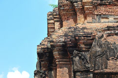 Stone castle in isan of thailand is the architecture culture old Royalty Free Stock Image