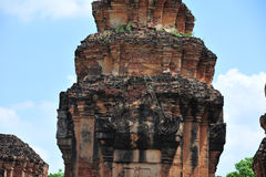 Stone castle in isan of thailand is the architecture culture old Stock Image