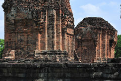 Stone castle in isan of thailand is the architecture culture old Stock Photo