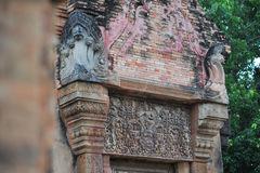 Stone castle in isan of thailand is the architecture culture old Royalty Free Stock Photos