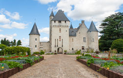 Stone castle in the Loire Valley France. Royalty Free Stock Photography