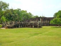 Phimai stone castle Stock Photo