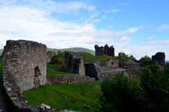 Stone Castle Ruins of Urquhart Castle in Scotland Royalty Free Stock Photography