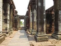 Stone castle. Phimai in Thailand Royalty Free Stock Photos