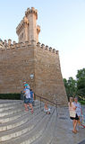 Stone castle towers of the Almudaina palace Royalty Free Stock Photos