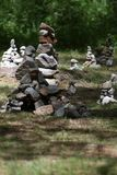 Stone castles. In celtic festival Stock Photo