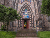 Stone cathedral. Cathedral of Our Lady of Lourdes - Canela - Rio Grande do Sul - Brazil Stock Image