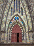 Stone cathedral. Cathedral of Our Lady of Lourdes - Canela - Rio Grande do Sul - Brazil Stock Photo