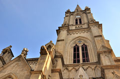 Stone Catholic church tower Royalty Free Stock Image