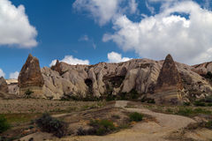 Stone cave city in Cappadocia. Turkey Royalty Free Stock Photos