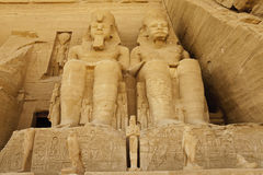 Stone caving of rameses II Stock Images