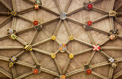 Stone Ceiling With Insignia Stock Photography