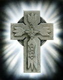 Stone Celtic Cross Royalty Free Stock Photo