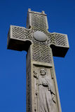 Stone Celtic Cross Against a Blue Sky Royalty Free Stock Photos