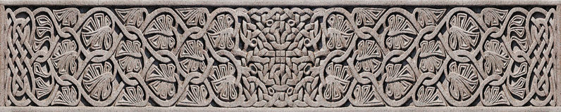 Stone Celtic Knot - Detail on Celtic Cross. This image is derived from three photographs of the detail on a Celtic cross in the Necropolis Glasgow. After Royalty Free Stock Photo