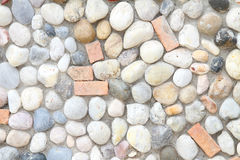 Stone in cement floor Royalty Free Stock Images