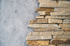 Stone and cement wall Stock Photos