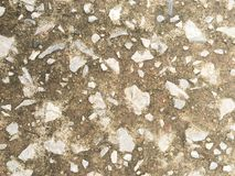 Stone in cement wallpaper background Stock Photo