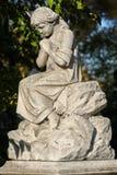 Stone cemetery statue Stock Photo