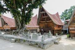 Stone chairs in Samosir - Sumatra, Indonesia Stock Image