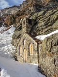 Stone chapel stock photography